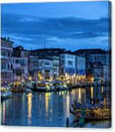 A Glowing Venice  Evening Canvas Print