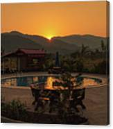 A Golden Sunset In Loas Canvas Print