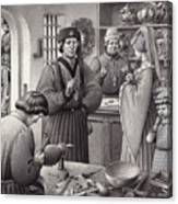 A Goldsmith's Shop In 15th Century Italy Canvas Print