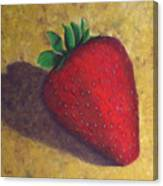 A Great Big Strawberry Canvas Print