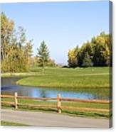 A Great Day For Golf Canvas Print