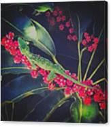 A Green Gecko Canvas Print