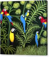 A Group Of Macaws Canvas Print
