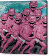 A Group Of People Laugh Canvas Print