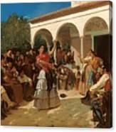 A Gypsy Dance In The Gardens Of Alcazar Canvas Print