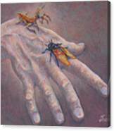 A Hand Of Bugs Canvas Print