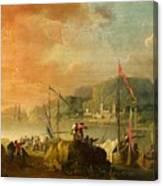 A Harbour View Canvas Print