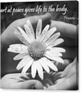 A Heart At Peace Canvas Print