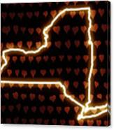 A Heart In New York Canvas Print