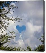 A Heart In The Sky Canvas Print