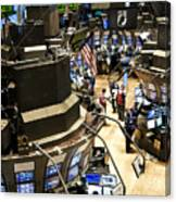 A High Angle View Of The New York Stock Canvas Print