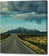 A Highway To The Rockies Canvas Print