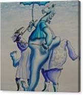 A Horse Of Course Canvas Print