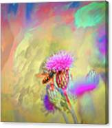 A Hoverfly On Abstract #h3 Canvas Print