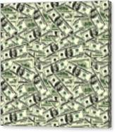 A Hundred Dollar Bill Banknotes Canvas Print