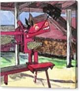 A I Farm Apple Squeeze Dragon Canvas Print