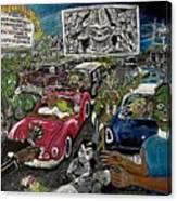 A I P Monster Movie Marathon At The Twilight Drive - In  La Porte Indiana Canvas Print