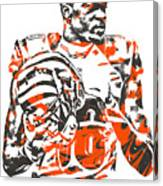 A J Green Cincinnati Bengals Pixel Art 5 Canvas Print