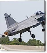 A Jas-39 Gripen Of The Swedish Air Canvas Print