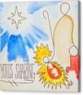 A Joyous Sharing Canvas Print