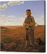 A Jutland Sheperd On The Moors Canvas Print