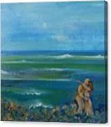 A kiss in the ocean Canvas Print