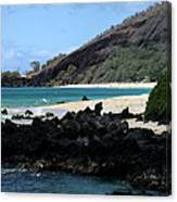 A L O H A  E Ala E Puu Olai Oneloa Big Beach Makena Maui Hawaii Canvas Print