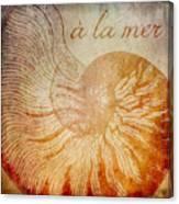 A La Mer Nautilus Canvas Print