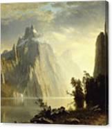 A Lake In The Sierra Nevada Canvas Print