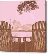 A Lake Murray Sc Sketch Canvas Print
