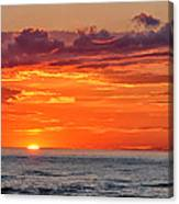 A Lake Sunset Canvas Print
