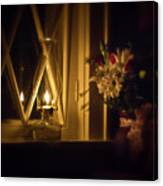 A Lamp In The Window For My Love Canvas Print