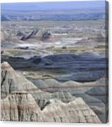 A Landscape Of The Badlands In South Canvas Print
