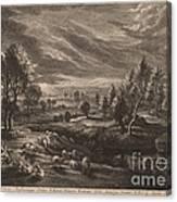A Landscape With A Village Canvas Print