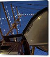 A Lifeboat Named Maria Boston Tall Ships 2017 Lighted Mast Boston Ma Canvas Print