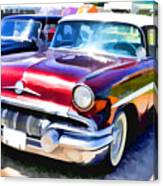 A Line Of Classic Antique Cars 9 Canvas Print