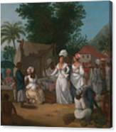 A Linen Market With A Linen-stall And Vegetable Seller In The West Indies Canvas Print