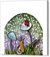 A Little Chat-ladybug And Snail Canvas Print
