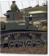 A Little Honey - M3 Stewart Light Tank Canvas Print