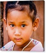 A Little Khmer Beauty Canvas Print