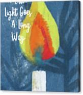 A Little Light- Art By Linda Woods Canvas Print