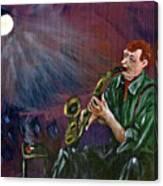 A Little Sax Canvas Print