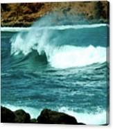 A Little Wave Action Canvas Print