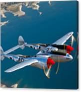A Lockheed P-38 Lightning Fighter Canvas Print