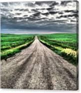 A Long Dakota Road Canvas Print