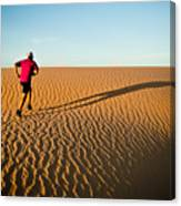 A Long Desert Run Canvas Print