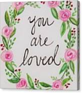 A Love Note Canvas Print