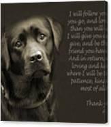 A Loving Dog Canvas Print