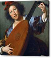 A Lute-player Canvas Print