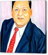 A M Naik Portrait Canvas Print